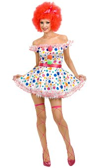Clownin Around Women's Clown Costume