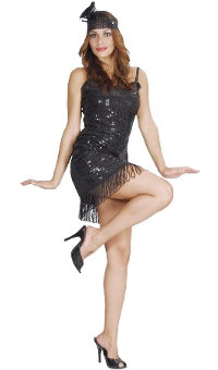 Flapper Girl Costume (Medium/Large)
