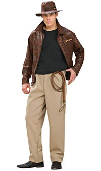 Indiana Jones w/ Jacket Adult Costume (Medium/Large)