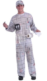 Bathroom Wall Guy Adult Costume (Medium)