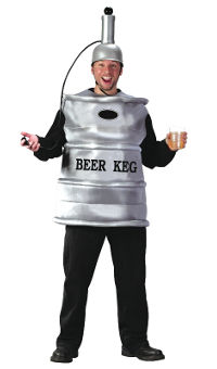 Beer Keg Adult Costume (One size)