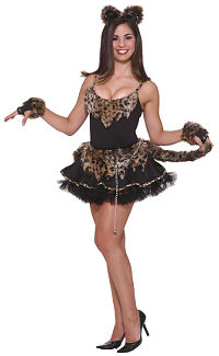 Feline Fantasy Leopard Costume (Small/Medium)