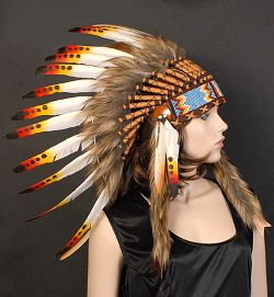 Red/Orange/Yellow Indian Headdress