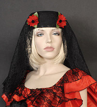 Spanish Senorita Black Hat
