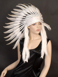 White Indian Headdress Native American Indian