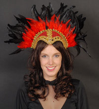 Las Vegas Red/Black Headdress