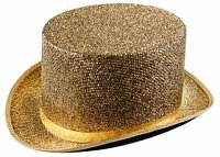 Gold Tinsel Top Hat