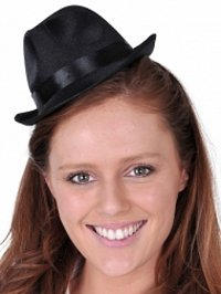 Mini Black Gangster Hat