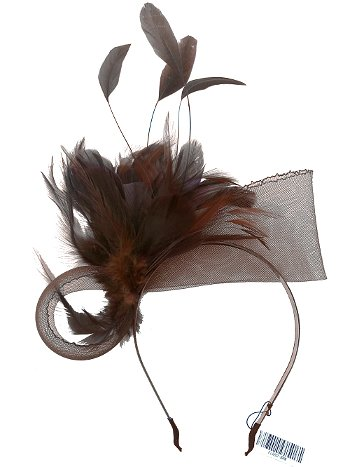 Charlotte Brown Feather Headband