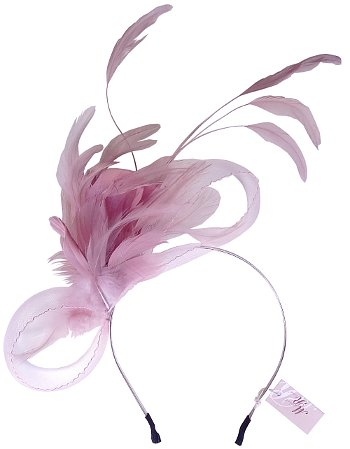 Charlotte Pink Feather Headband