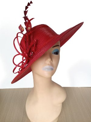 Elsie Red Spring Racing Carnival Hat
