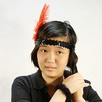 KoKo Headband Red on Black