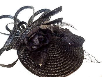 Kristie Black Disc Fascinator