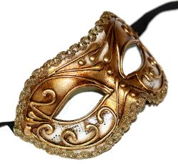 Colombina Vivian Music Gold Masquerade Mask