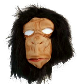 Monkey Latex Mask w/ Fur