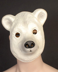 Polar Bear Plastic Mask