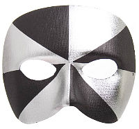 Venetian Bi Colour Black/Silver Mask