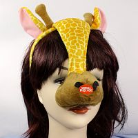Giraffe 1/2 Mask w/ Sound