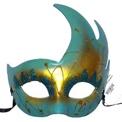 Crescent Mask Blue/Gold