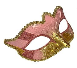 Alice Pink/Gold Masquerade Mask