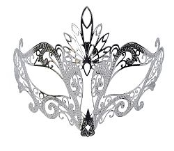 Andrea Silver Metal Mask