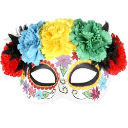 Frida Bright Sugar Skull Mask