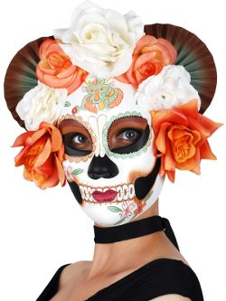 Sugar Skull Cream & Orange Flowers Mask