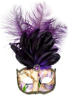 Allegra Gold & Purple Masquerade Mask