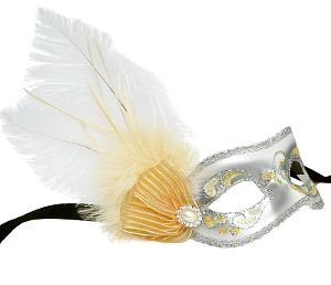 Brilliantina Yellow & Silver Masquerade Mask
