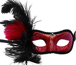 Caroline Red Masquerade Mask