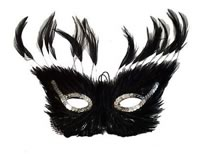 Inca Black Feather Mask