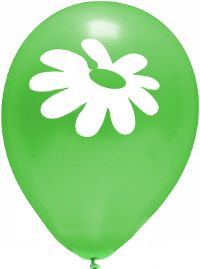 Daisy Green Balloon 10-Pack