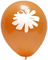 Daisy Orange Balloon 10-Pack