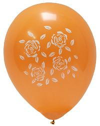 Roses Orange Balloon 10-Pack