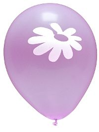 Daisy Lilac Balloon 10-Pack