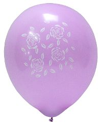 Roses Lilac Balloon 10-Pack
