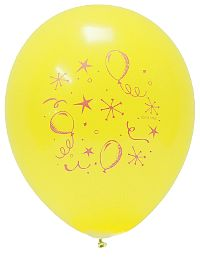 Party Style Yellow Balloon 10-Pack