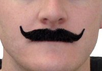 Poirot Black Human Hair Moustache