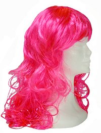 Hot Pink Curly Wig
