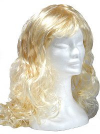 Long Blonde Curly Wig
