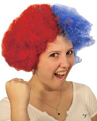 Cheer Wig Red & Blue