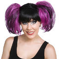 Pixie Purple & Black Wig