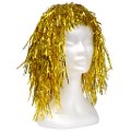 Gold Tinsel Wig - Economy
