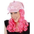 Pink Cap w/ Hot Pink Hair.
