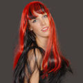 Red/Black Vampire Long Wig